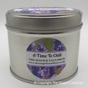 A Time To Chill Tin Candle, Lavender Scented Candle from The Magick Cauldron
