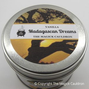 Madagascan Dreams Tin Candle, Vanilla Scented Candle from The Magick Cauldron