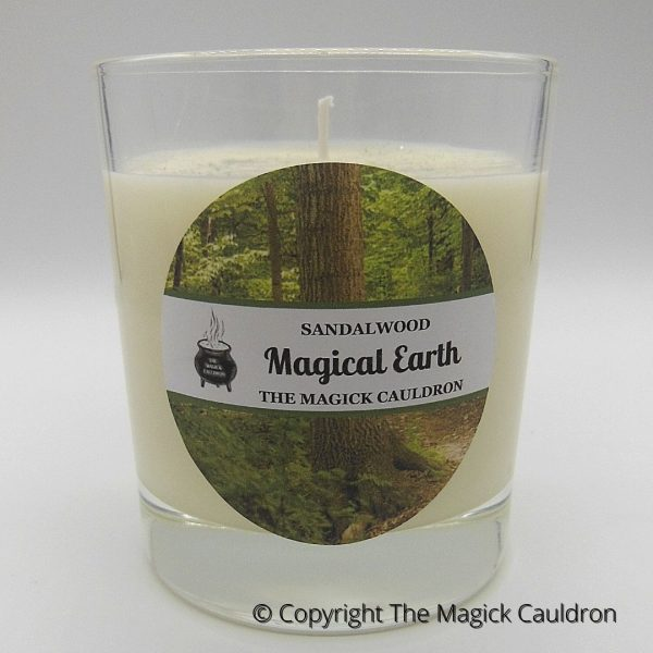 Magical Earth Jar Candle, Sandalwood Scented Candle from The Magick Cauldron