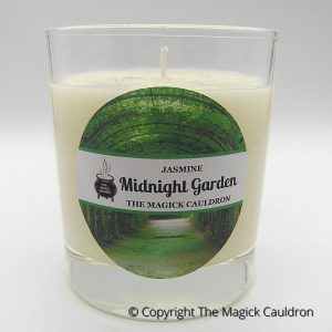Midnight Garden Jar Candle, Jasmine Scented Candle from The Magick Cauldron