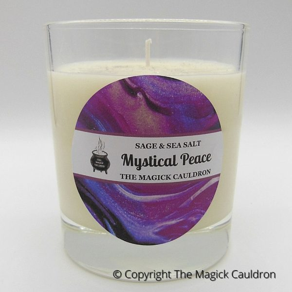 Mystical Peace Jar Candle, Sage Scented Candle from The Magick Cauldron