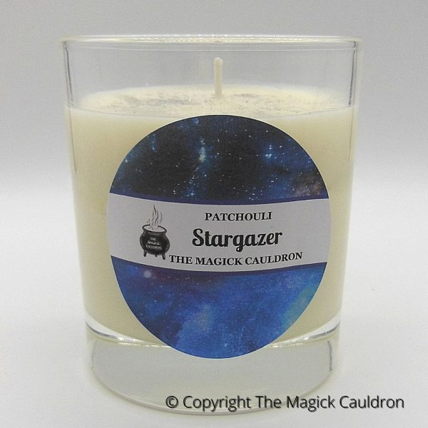 Stargazer Jar Candle, Patchouli Scented Candle, The Magick Cauldron