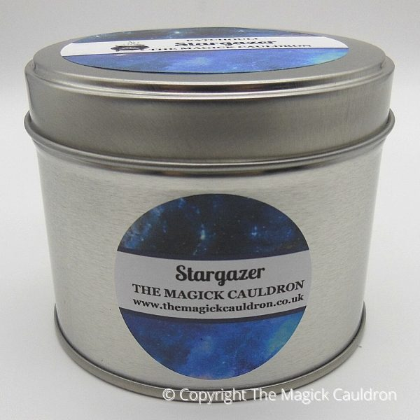 Stargazer Candles, Patchouli Scented Candle Tin, The Magick Cauldron