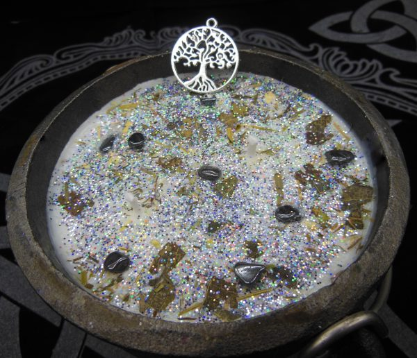 Wiccan Healing Cauldron Candle, Pagan, Witch, The Magick Cauldron