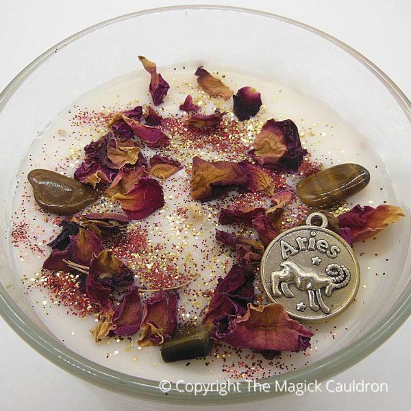 Aries Zodiac Jar Candle, Astrology Gifts, The Magick Cauldron