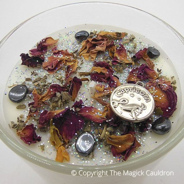 Capricorn Zodiac Jar Candle, Star Sign Gift from The Magick Cauldron