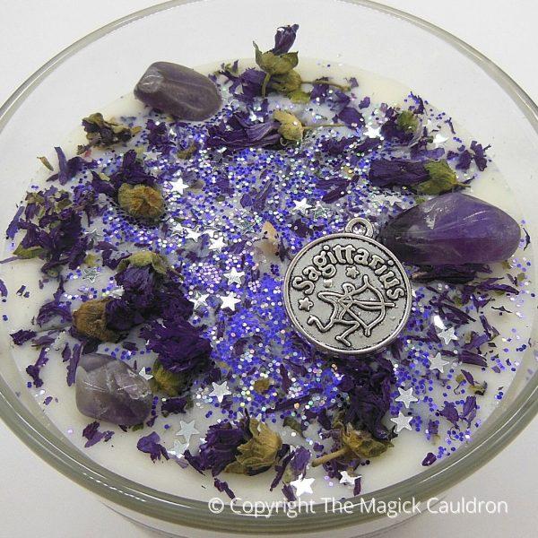Sagittarius Zodiac Candles, Astrology Gifts, The Magick Cauldron