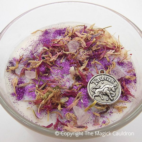 Taurus Zodiac Jar Candle, Star Sign Gift from The Magick Cauldron