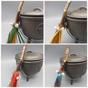 Element Besom Broomsticks Set - The Magick Cauldron