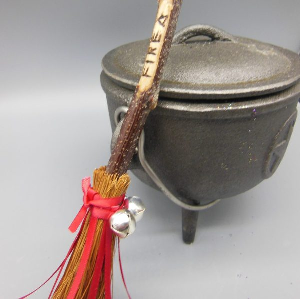 Fire Besom Broomstick from The Magick Cauldron