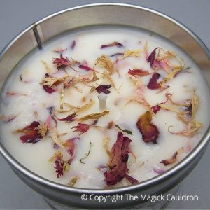 Essential Ylang Ylang Tin Candle, Vegan Candles from The Magick Cauldron