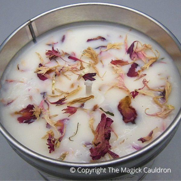 Essential Ylang Ylang Tin Candle, Vegan Candles from The Magick Cauldron