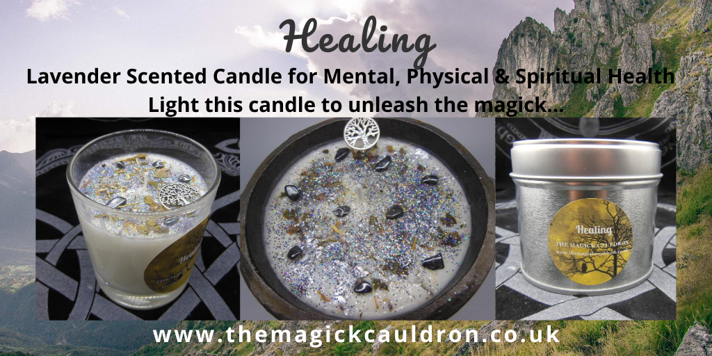 Wiccan/Pagan Candle Ranges, Healing Lavender Scented Candles from The Magick Cauldron