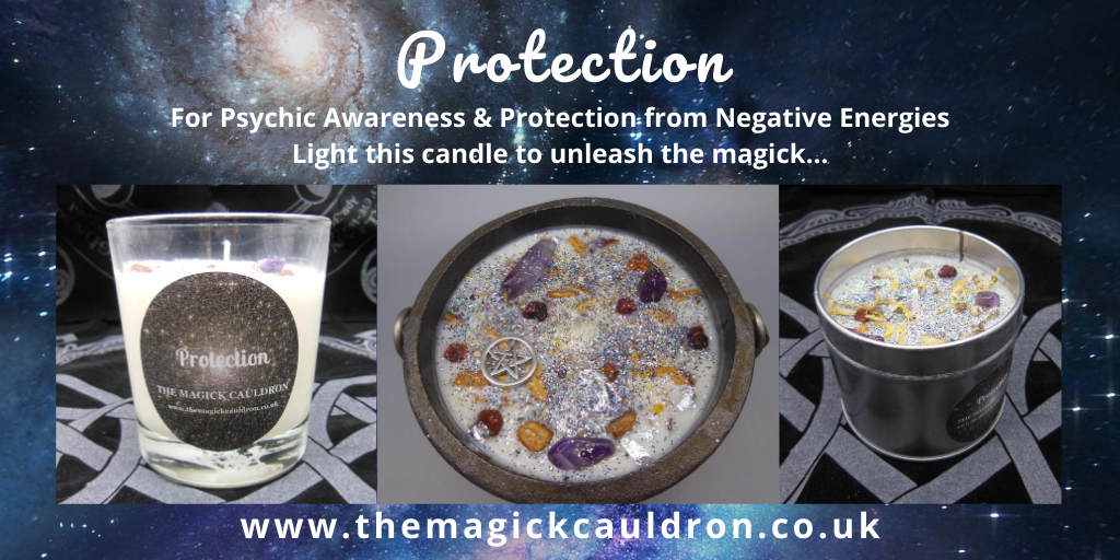 Wiccan/Pagan Candle Ranges, Protection Sage Scented Candles from The Magick Cauldron