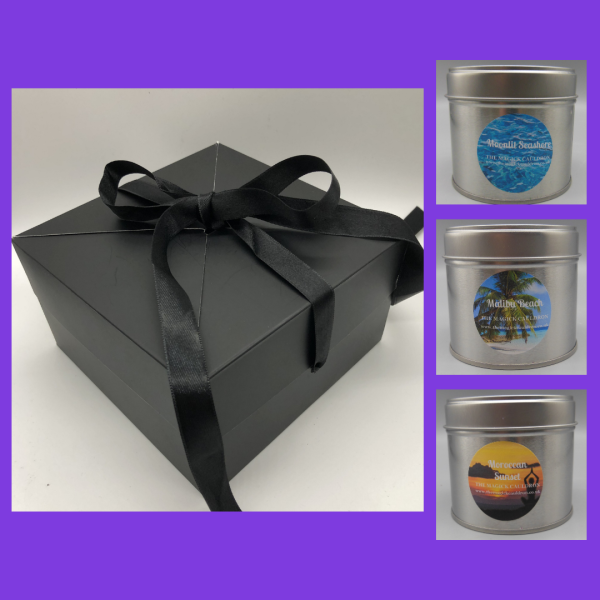 Three Tin Candle Gift Box, Scented Candles from The Magick Cauldron