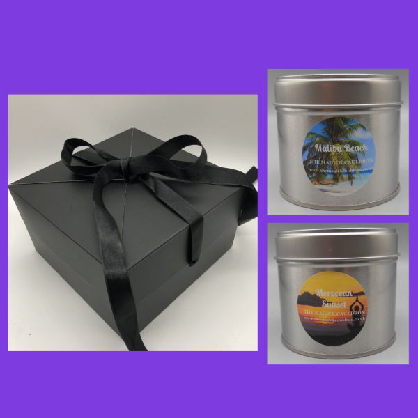 Gift Box 2 Tin Candles, Scented Candles from The Magick Cauldron