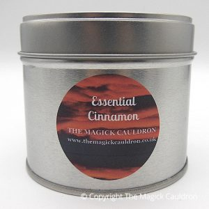 Essential Cinnamon Tin Candle, Vegan Candles from The Magick Cauldron