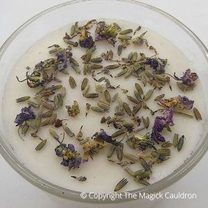 Essential Lavender Candles, Vegan Candles from The Magick Cauldron