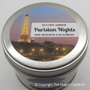 Parisian Nights Candles, Amber Scented Candle, The Magick Cauldron