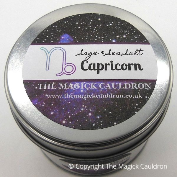 Capricorn Zodiac Tin Candle, Star Sign Gift from The Magick Cauldron