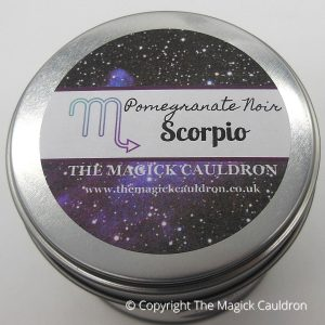 Scorpio Zodiac Tin Candle, Star Sign Gift from The Magick Cauldron