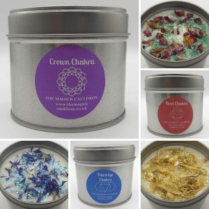 Chakra Candle Set, Essential Oil Candles from The Magick Cauldron