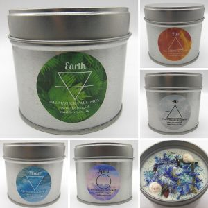 Element Candle Set, Essential Oil Candles from The Magick Cauldron