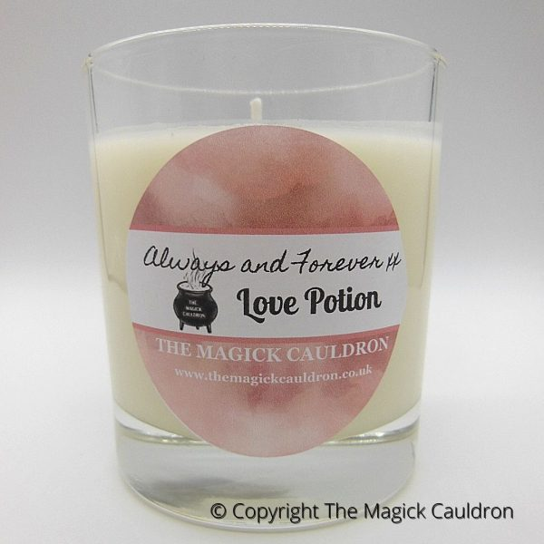 Love Potion Jar Candle, Vegan Scented Candle from The Magick Cauldron