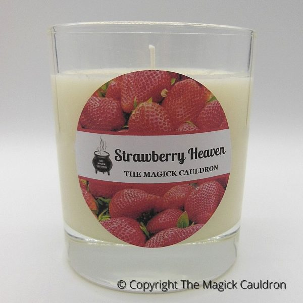 Strawberry Heaven Candles, Handmade Candles from The Magick Cauldron