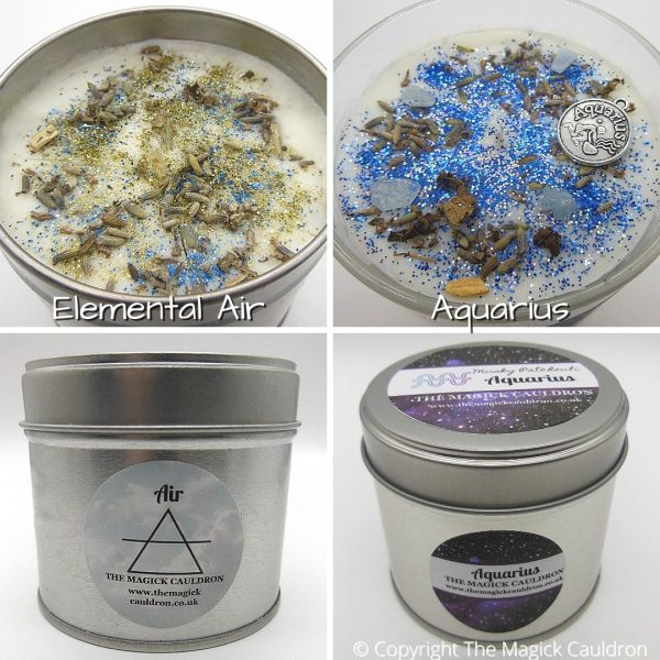 Zodiac Aquarius Candle Gift Set, Star Sign Candles, The Magick Cauldron