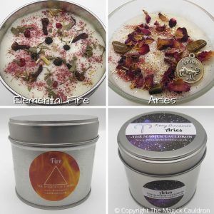 Zodiac Aries Candle Gift Set, Astrology Candles, Star Sign Gift, The Magick Cauldron