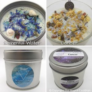 Zodiac Cancer Candle Gift Set, Star Sign Candles, The Magick Cauldron
