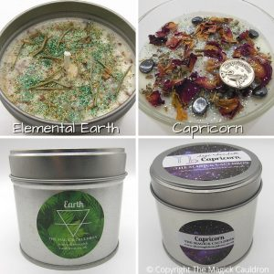 Zodiac Capricorn Candle Gift Set, Star Sign Candles, The Magick Cauldron