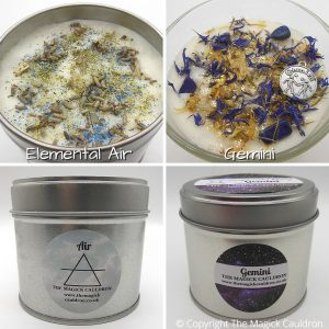 Zodiac Gemini Candle Gift Set, Star Sign Candles, The Magick Cauldron