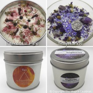 Zodiac Sagittarius Candle Gift Set, Star Sign Candles, The Magick Cauldron
