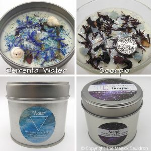 Zodiac Scorpio Candle Gift Set, Star Sign Candles, The Magick Cauldron
