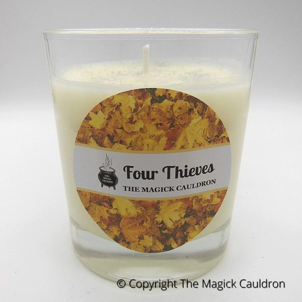 Four Thieves Jar Candle, Essential Oil Candle, Soy Candles from The Magick Cauldron