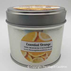 Essential Orange Tin Candle, Essential Oil Candle from The Magick Cauldron