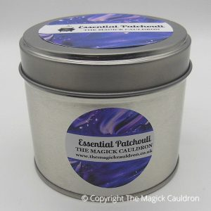 Essential Patchouli Tin Candle, Essential Oil Candle from The Magick Cauldron